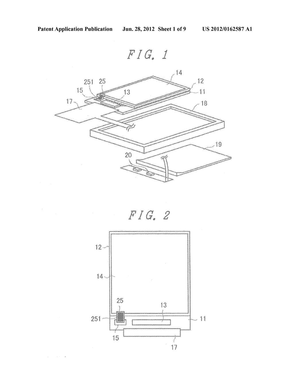 LIQUID CRYSTAL DISPLAY DEVICE WITH GROUNDED BY THERMOCOMPRESSION BONDING     TAPE and double-side adhesive tape - diagram, schematic, and image 02