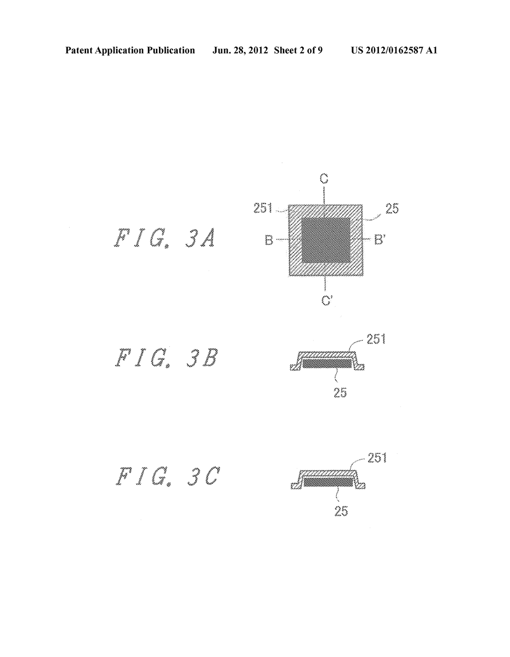 LIQUID CRYSTAL DISPLAY DEVICE WITH GROUNDED BY THERMOCOMPRESSION BONDING     TAPE and double-side adhesive tape - diagram, schematic, and image 03