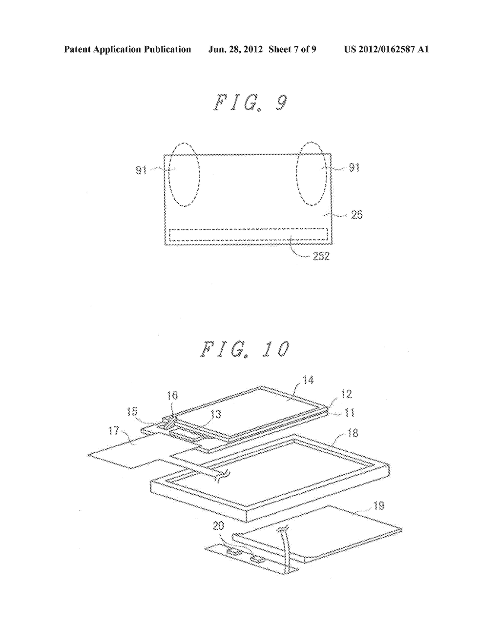 LIQUID CRYSTAL DISPLAY DEVICE WITH GROUNDED BY THERMOCOMPRESSION BONDING     TAPE and double-side adhesive tape - diagram, schematic, and image 08