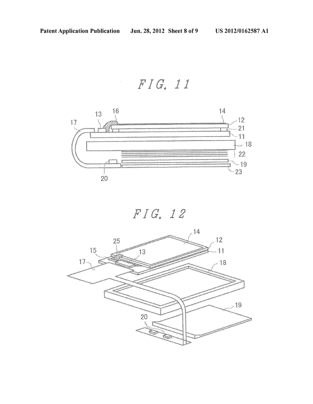 LIQUID CRYSTAL DISPLAY DEVICE WITH GROUNDED BY THERMOCOMPRESSION BONDING     TAPE and double-side adhesive tape - diagram, schematic, and image 09