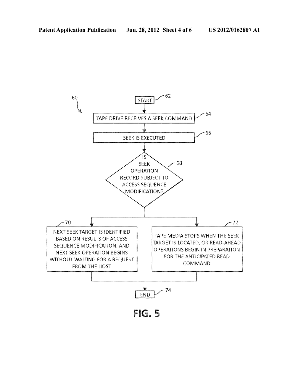 METHOD AND SYSTEM FOR OPERATING A TAPE DRIVE - diagram, schematic, and image 05