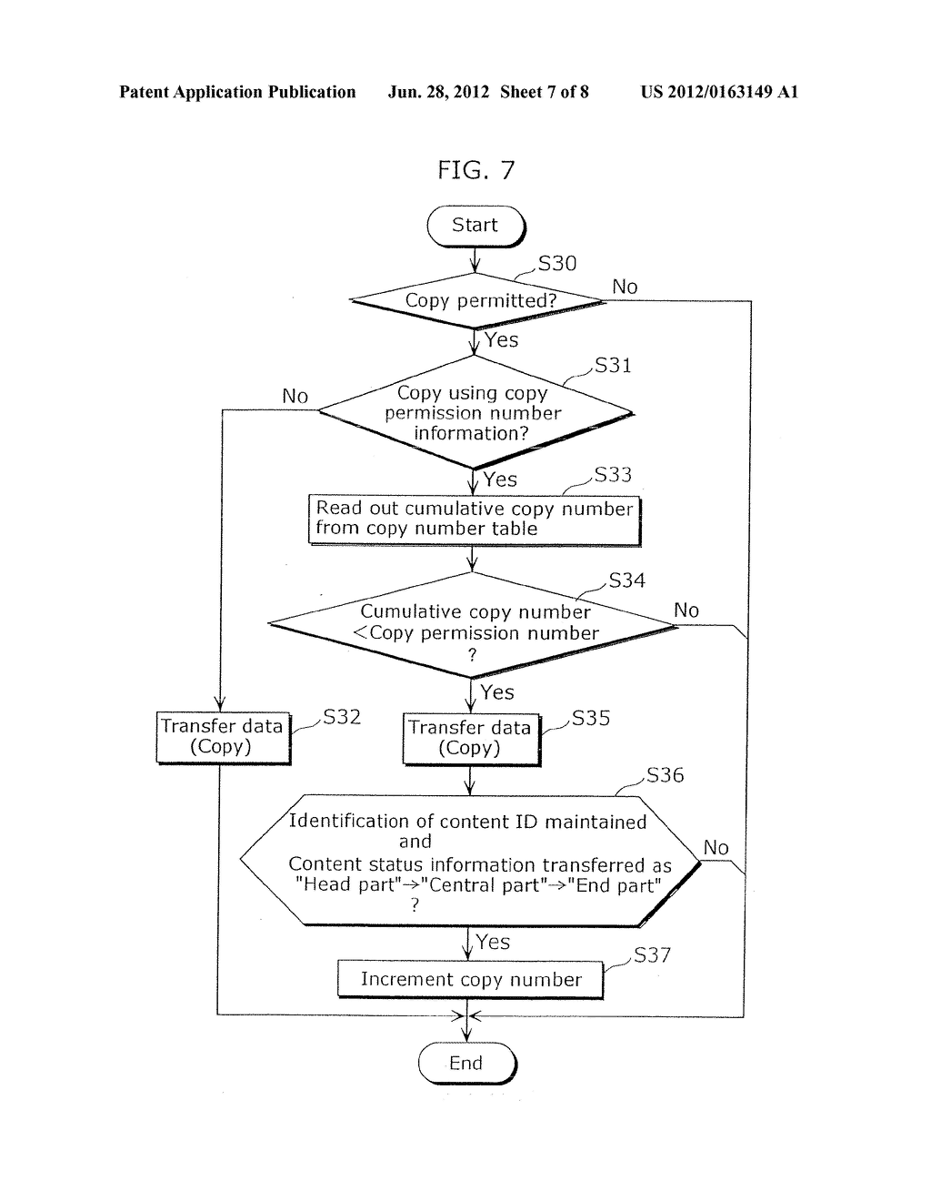 CONTENT TRANSMITTING APPARATUS FOR TRANSMITTING CONTENT WITH COPY CONTROL     INFORMATION, CONTENT IDENTIFICATION INFORMATION AND CONTENT STATUS     INFORMATION - diagram, schematic, and image 08