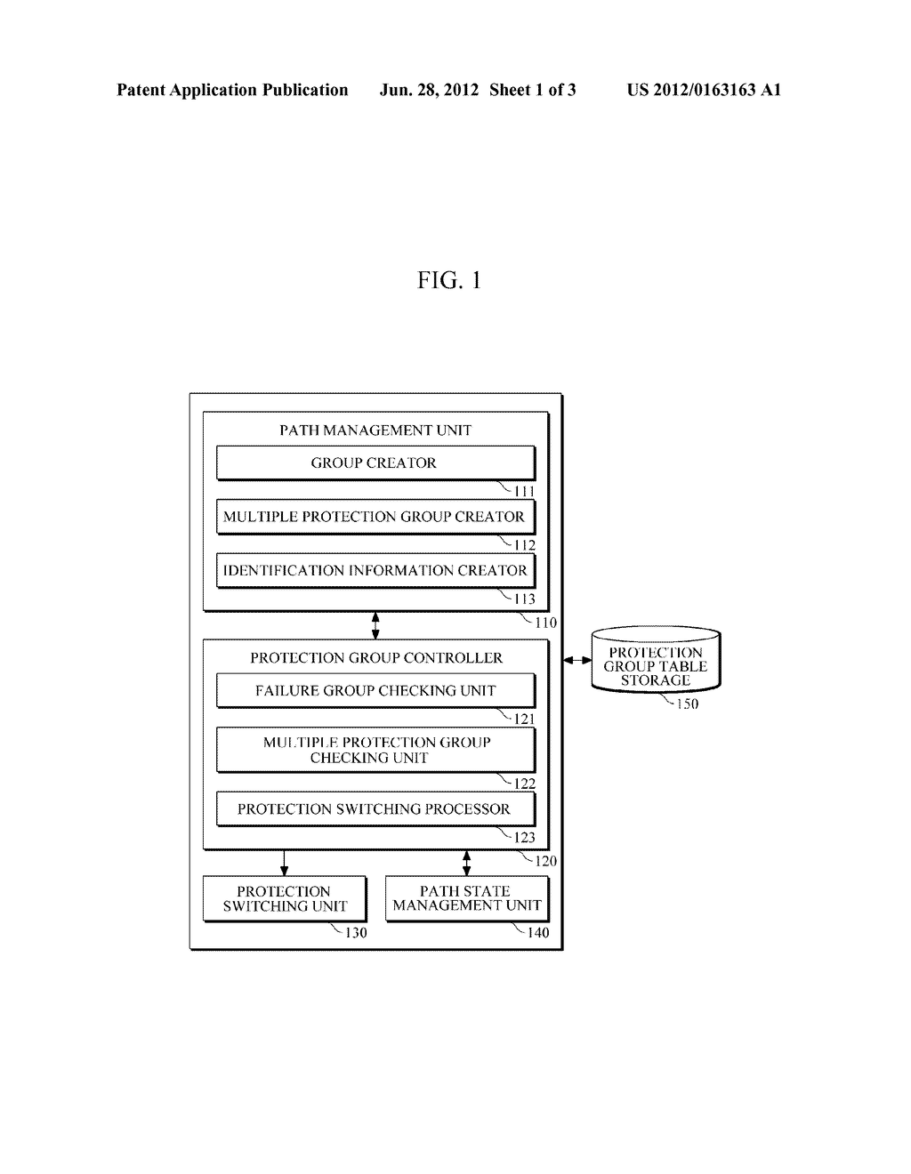 APPARATUS AND METHOD FOR PROTECTION SWITCHING OF MULTIPLE PROTECTION GROUP - diagram, schematic, and image 02