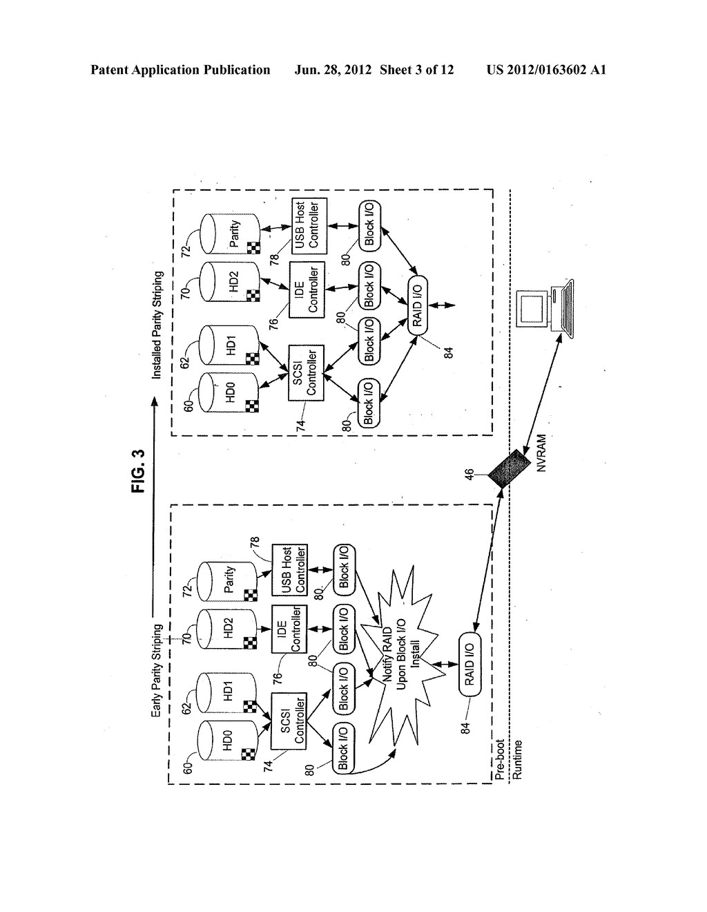 Method and Apparatus for Providing Seamless File System Encryption from a     Pre-Boot Environment Into a Firmware Interface Aware Operating System - diagram, schematic, and image 04