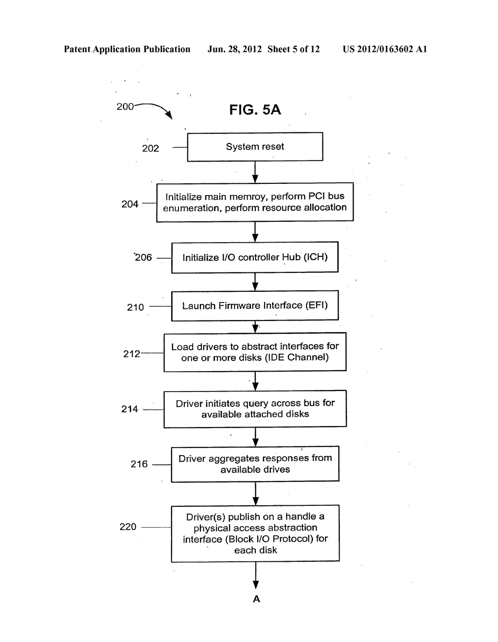 Method and Apparatus for Providing Seamless File System Encryption from a     Pre-Boot Environment Into a Firmware Interface Aware Operating System - diagram, schematic, and image 06
