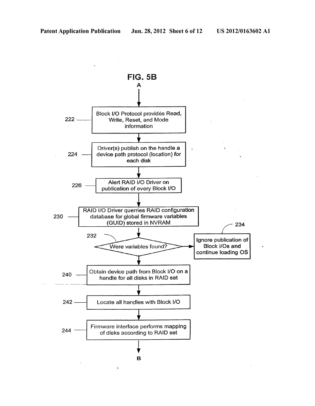Method and Apparatus for Providing Seamless File System Encryption from a     Pre-Boot Environment Into a Firmware Interface Aware Operating System - diagram, schematic, and image 07