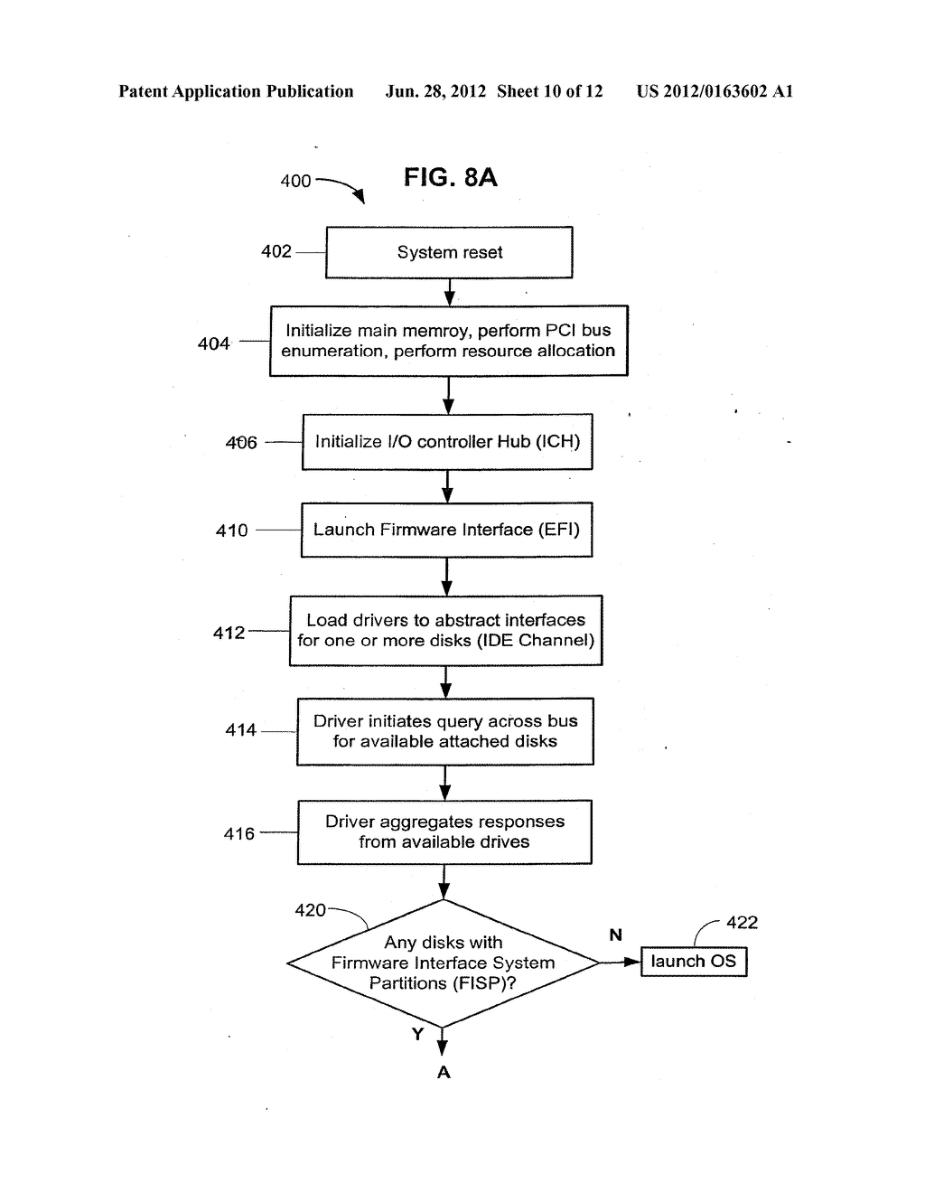 Method and Apparatus for Providing Seamless File System Encryption from a     Pre-Boot Environment Into a Firmware Interface Aware Operating System - diagram, schematic, and image 11