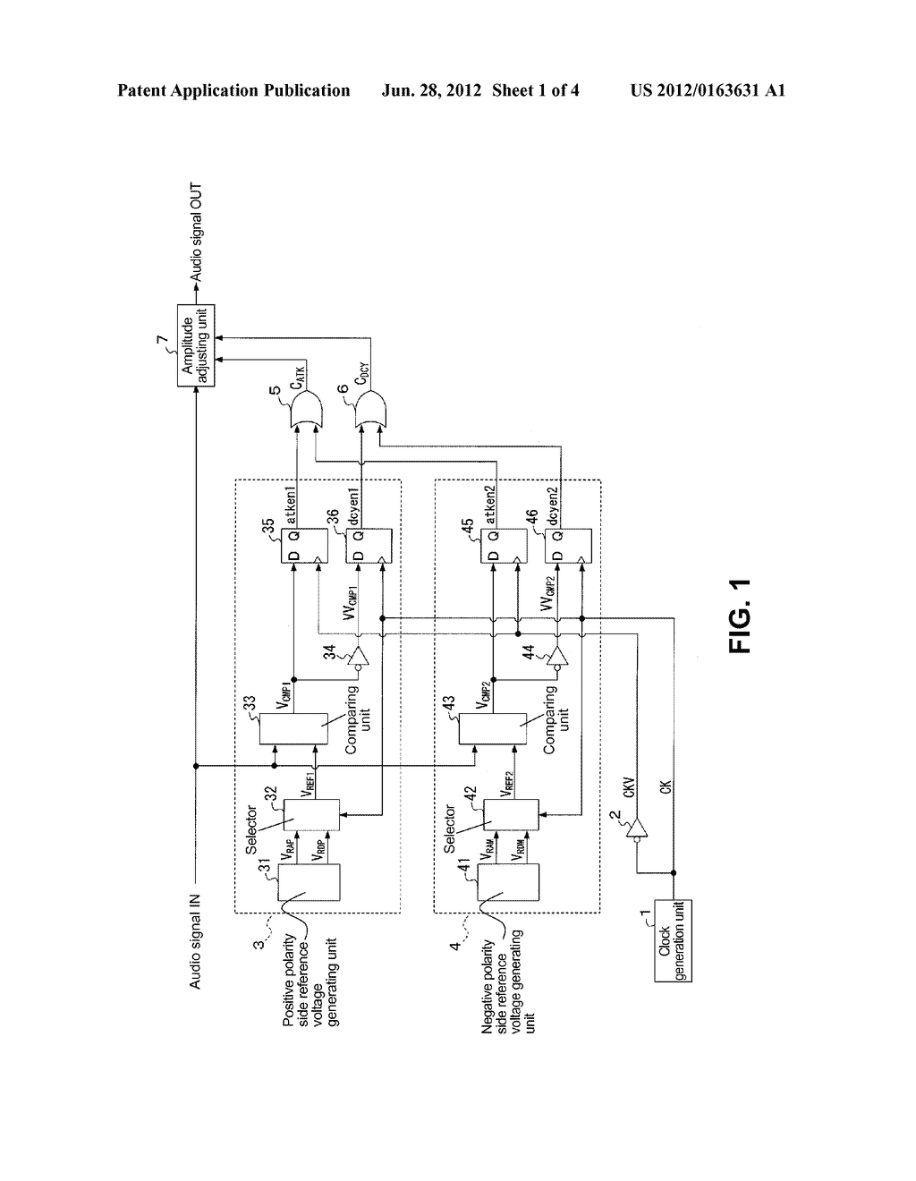 AUTOMATIC AUDIO SIGNAL LEVEL ADJUSTMENT CIRCUIT - diagram, schematic, and image 02