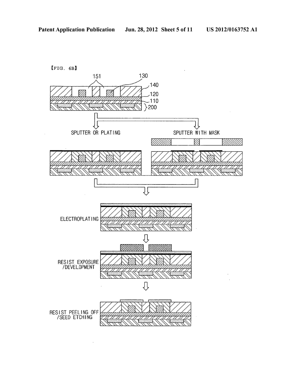 Method for manufacturing printed circuit board with optical waveguides - diagram, schematic, and image 06