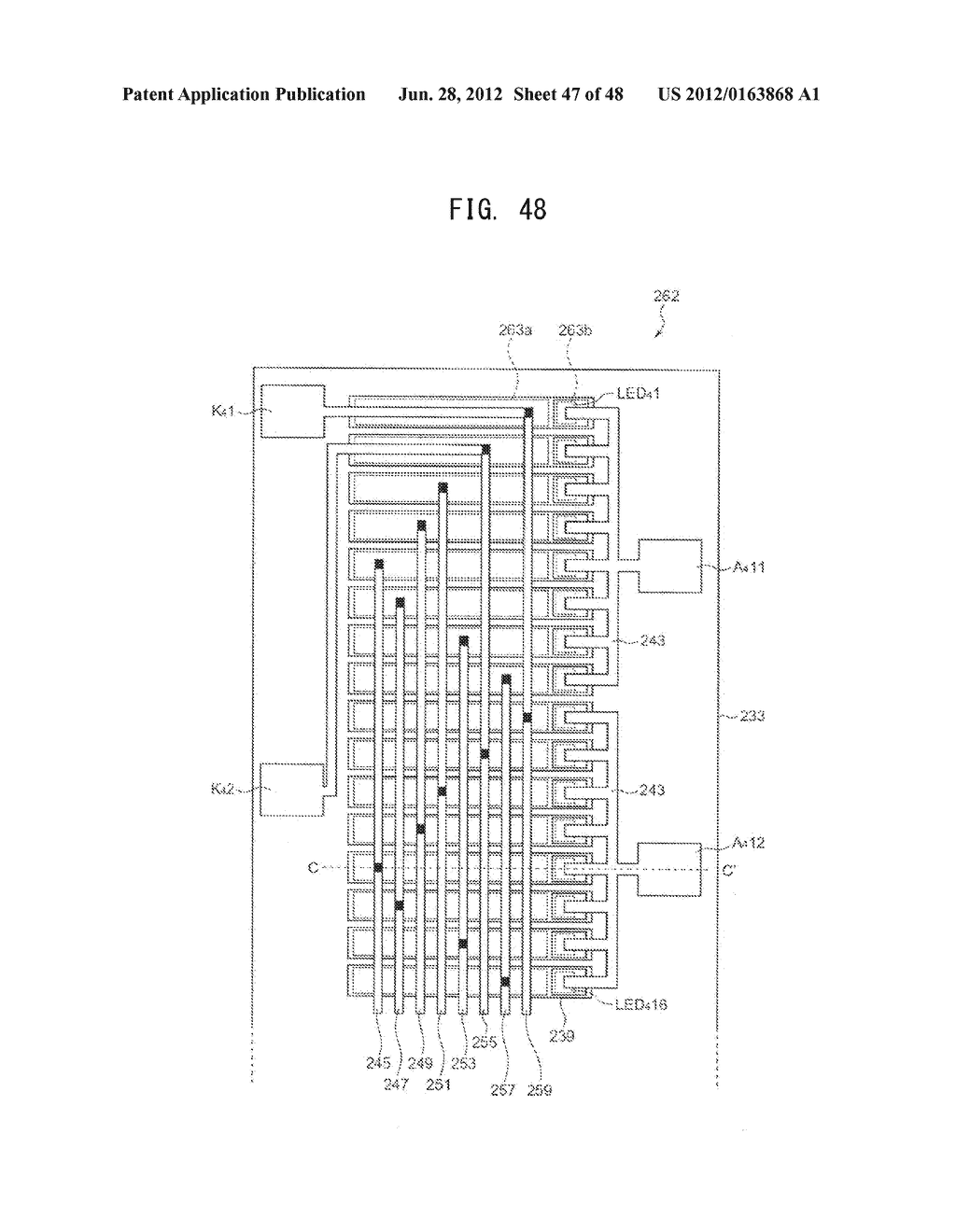 DRIVE DEVICE, LED ARRAY, LED HEAD, AND IMAGE FORMING APPARATUS PROVIDED     THEREWITH - diagram, schematic, and image 48
