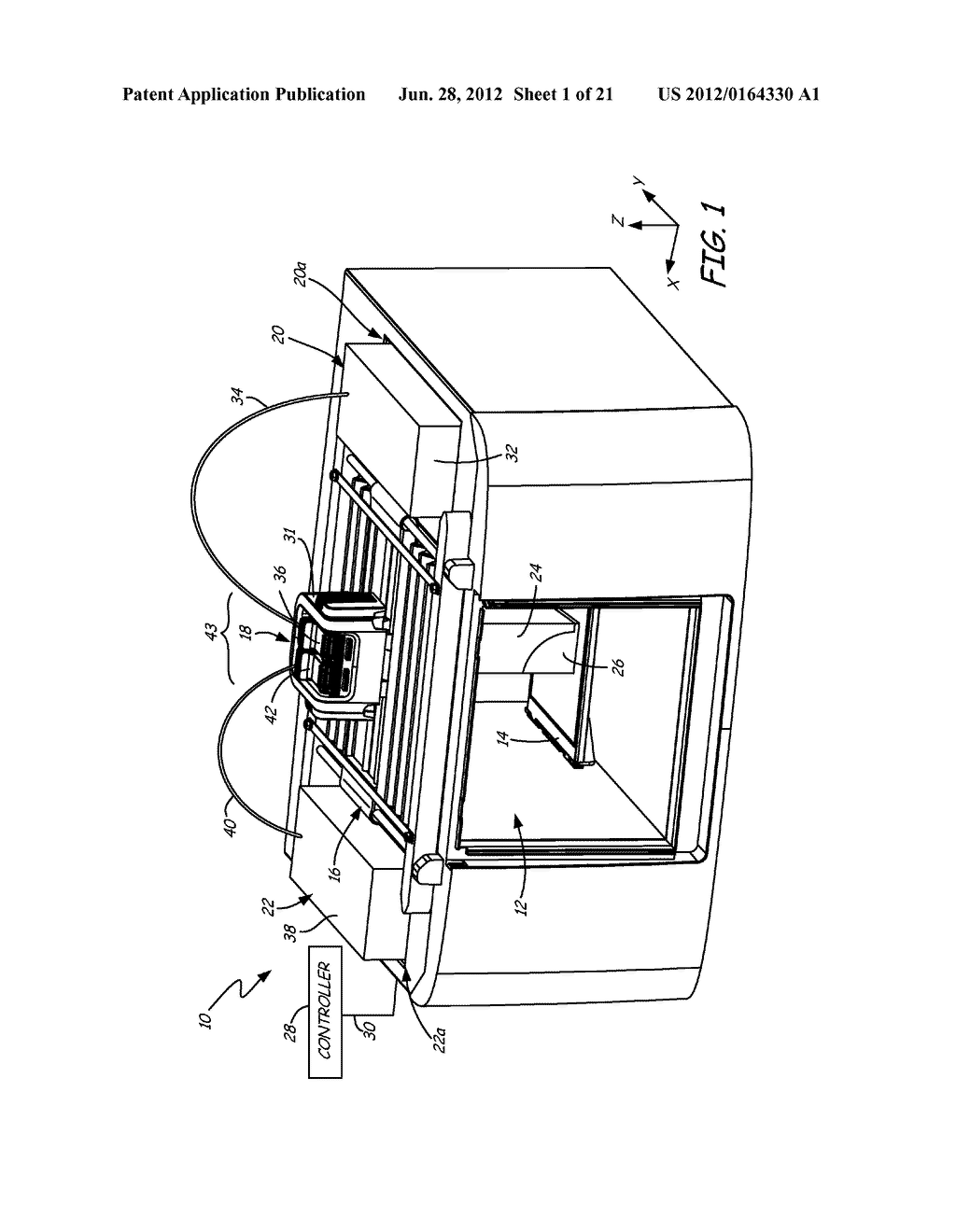 METHOD OF USING PRINT HEAD ASSEMBLY IN FUSED DEPOSITION MODELING SYSTEM - diagram, schematic, and image 02