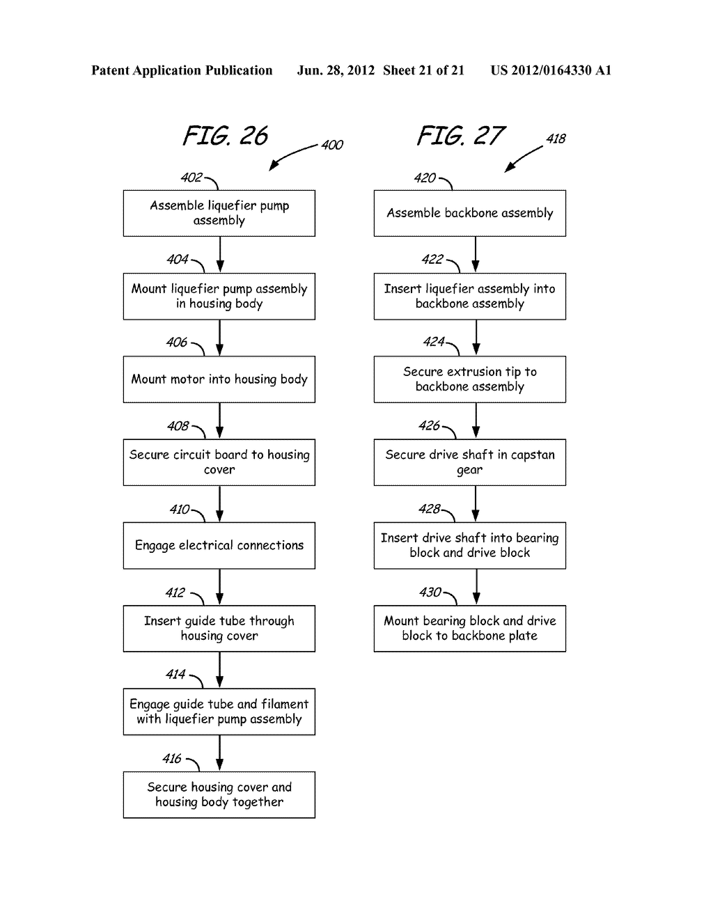METHOD OF USING PRINT HEAD ASSEMBLY IN FUSED DEPOSITION MODELING SYSTEM - diagram, schematic, and image 22