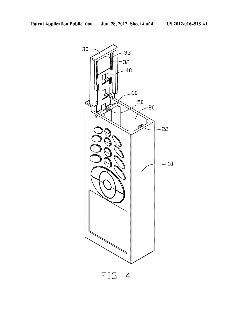 ELECTRONIC DEVICE WITH SLIDING BATTERY COVER - diagram, schematic, and image 05