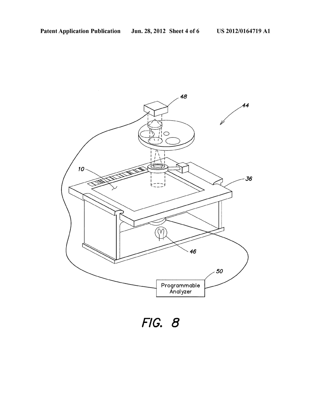 METHOD AND APPARATUS FOR ANALYZING INDIVIDUAL CELLS OR PARTICULATES USING     FLUORESCENT QUENCHING AND/OR BLEACHING - diagram, schematic, and image 05