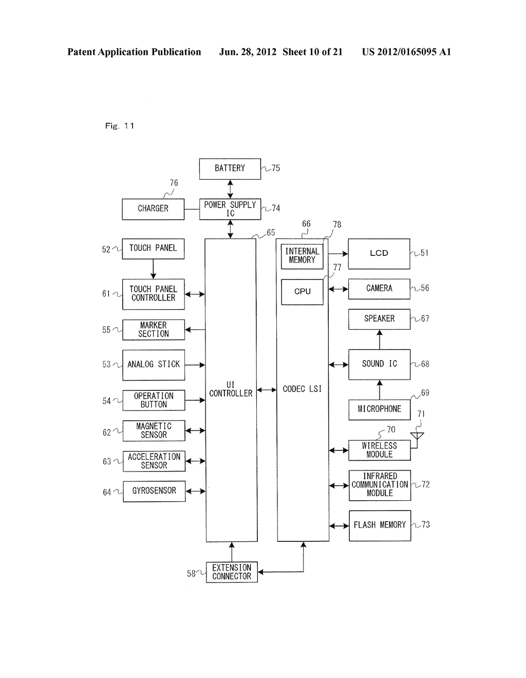 GAME SYSTEM, GAME APPARATUS, STORAGE MEDIUM HAVING GAME PROGRAM STORED     THEREIN, AND GAME PROCESS METHOD - diagram, schematic, and image 11