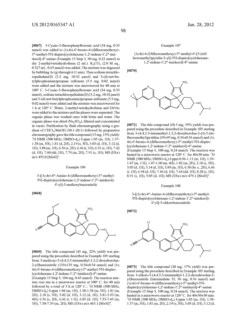 Compounds and their use as BACE Inhibitors - diagram, schematic, and image 107