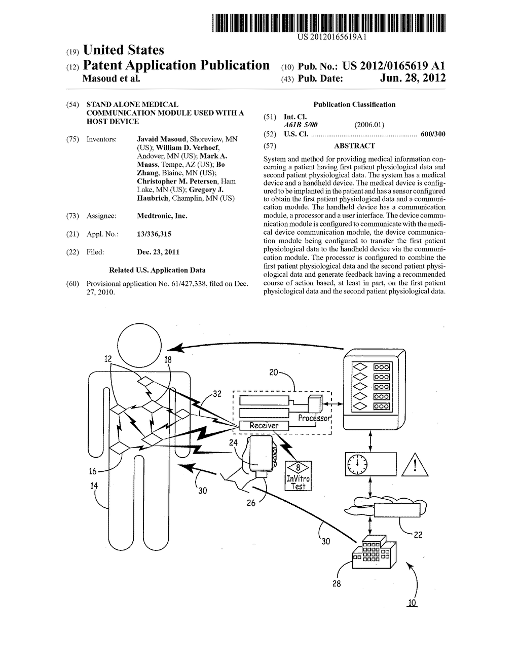 STAND ALONE MEDICAL COMMUNICATION MODULE USED WITH A HOST DEVICE - diagram, schematic, and image 01
