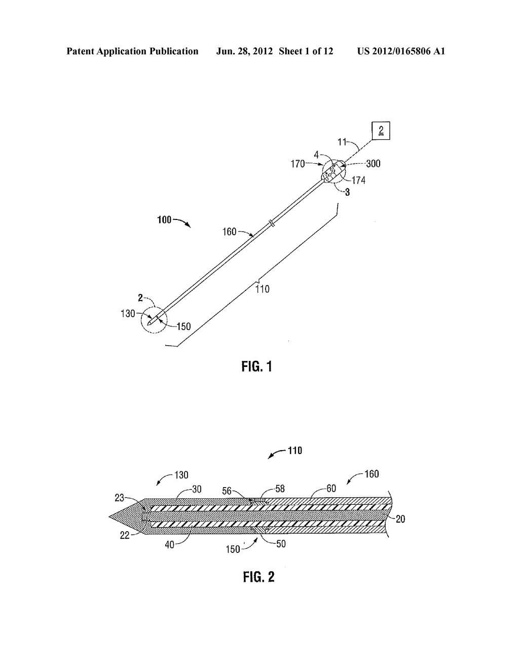 Microwave Field-Detecting Needle Assemblies, Methods of Manufacturing     Same, Methods of Adjusting an Ablation Field Radiating into Tissue using     Same, and Systems Including Same - diagram, schematic, and image 02