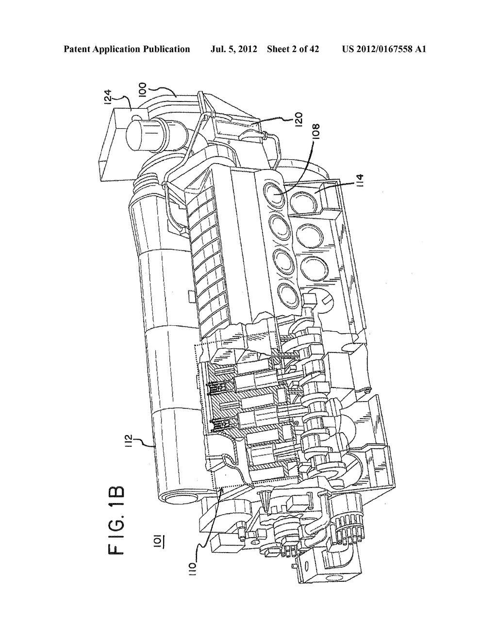 SUPPORT SYSTEM FOR AN EXHAUST AFTERTREATMENT SYSTEM FOR A LOCOMOTIVE     HAVING A TWO-STROKE LOCOMOTIVE DIESEL ENGINE - diagram, schematic, and image 03