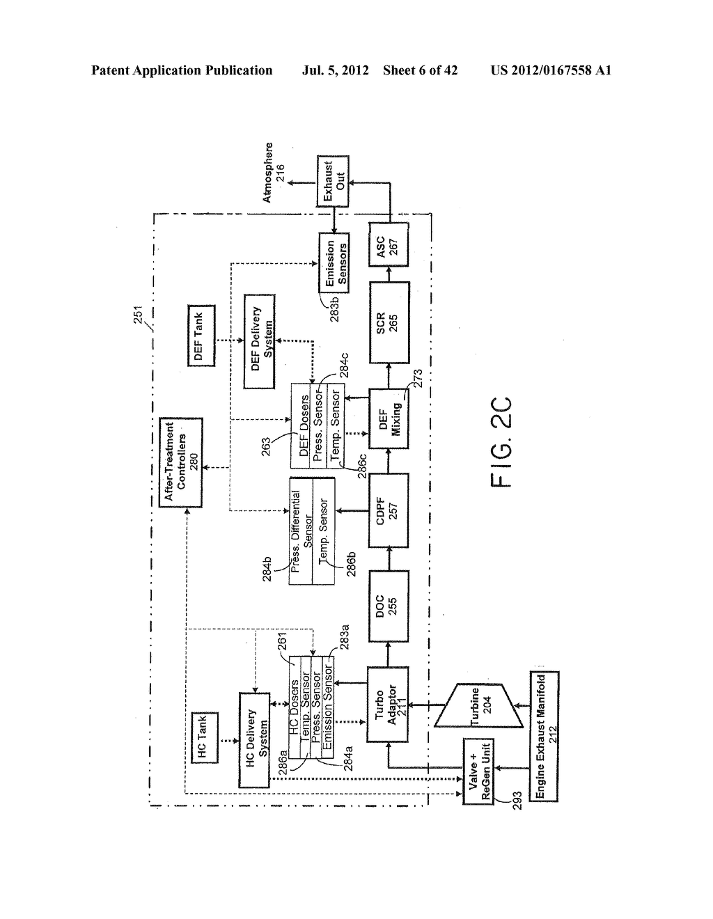 SUPPORT SYSTEM FOR AN EXHAUST AFTERTREATMENT SYSTEM FOR A LOCOMOTIVE     HAVING A TWO-STROKE LOCOMOTIVE DIESEL ENGINE - diagram, schematic, and image 07