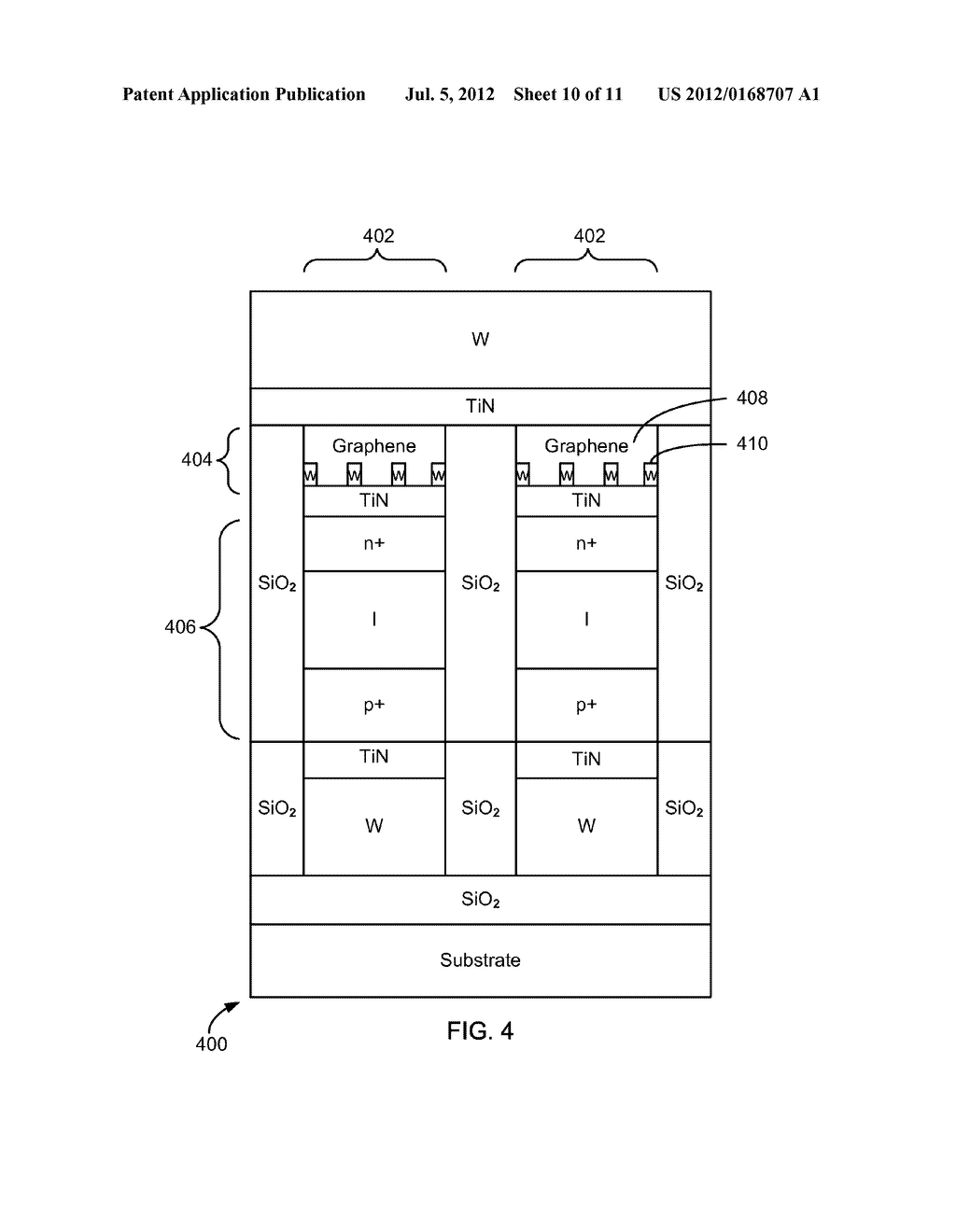 CARBON NANO-FILM REVERSIBLE RESISTANCE-SWITCHABLE ELEMENTS AND METHODS OF     FORMING THE SAME - diagram, schematic, and image 11