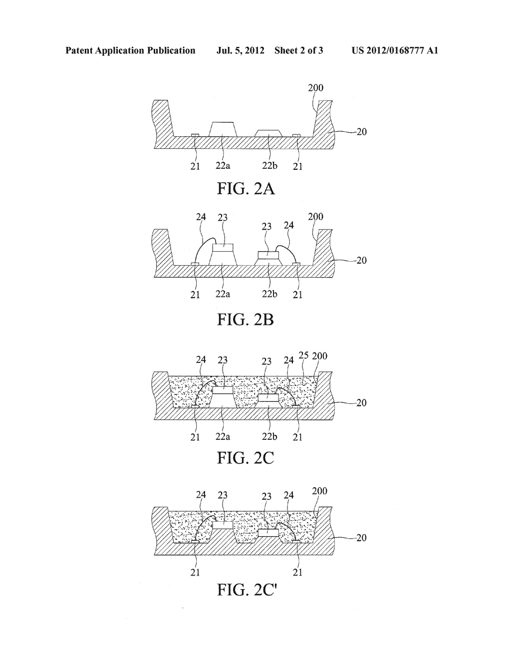 LED PACKAGE STRUCTURE AND FABRICATION METHOD THEREOF - diagram, schematic, and image 03