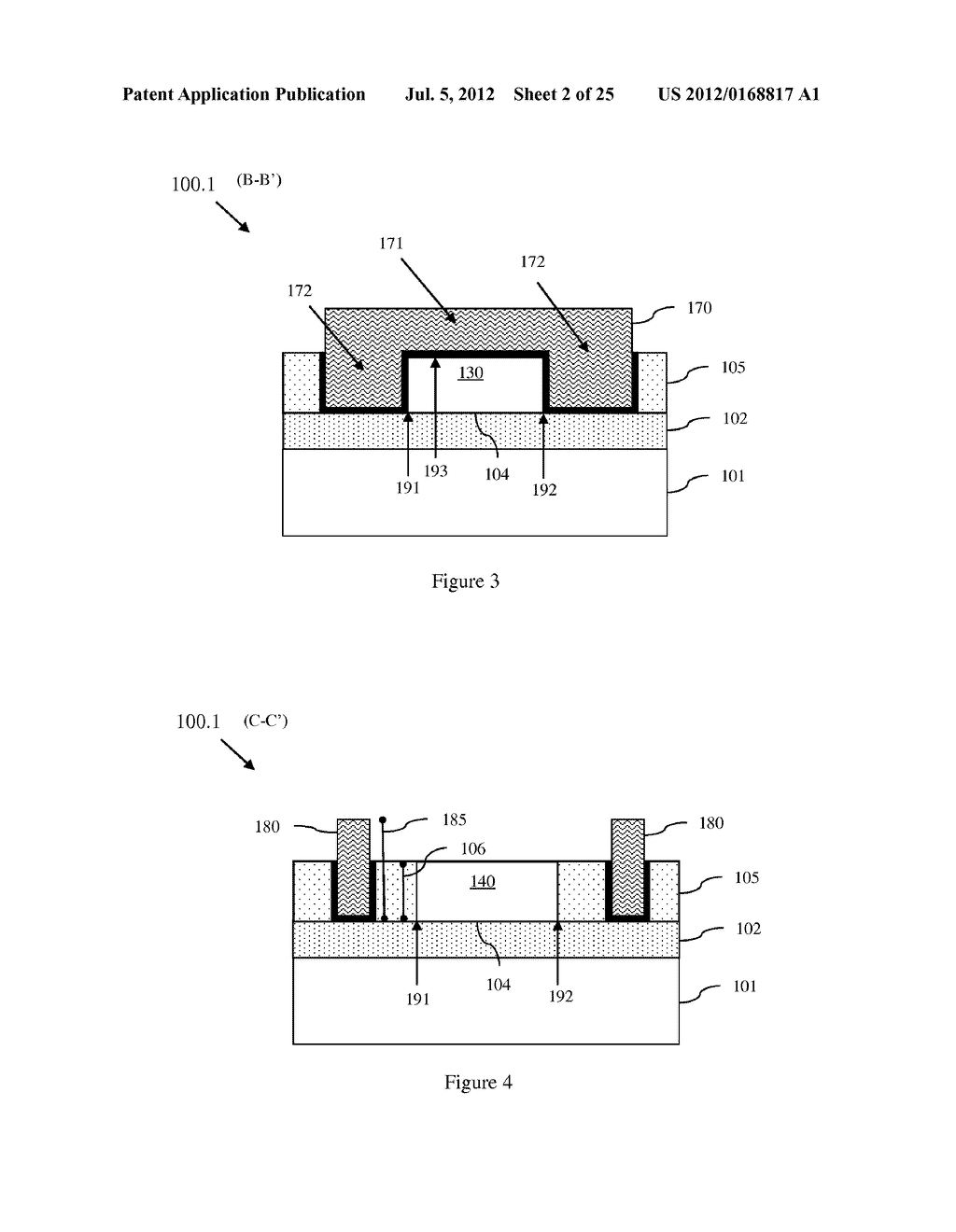 Lateral Extended Drain Metal Oxide Semiconductor Field Effect Scr Silicon Controlled Rectifier High To Body Breakdown Voltage Vb A Method Of Forming An Ledmosfet And Incorporating Complementary Pair