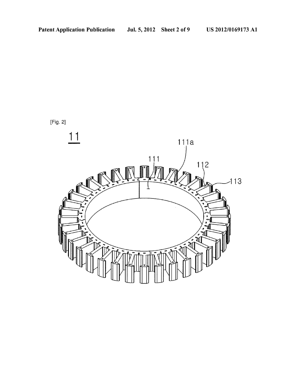 STATOR FOR MOTOR - diagram, schematic, and image 03