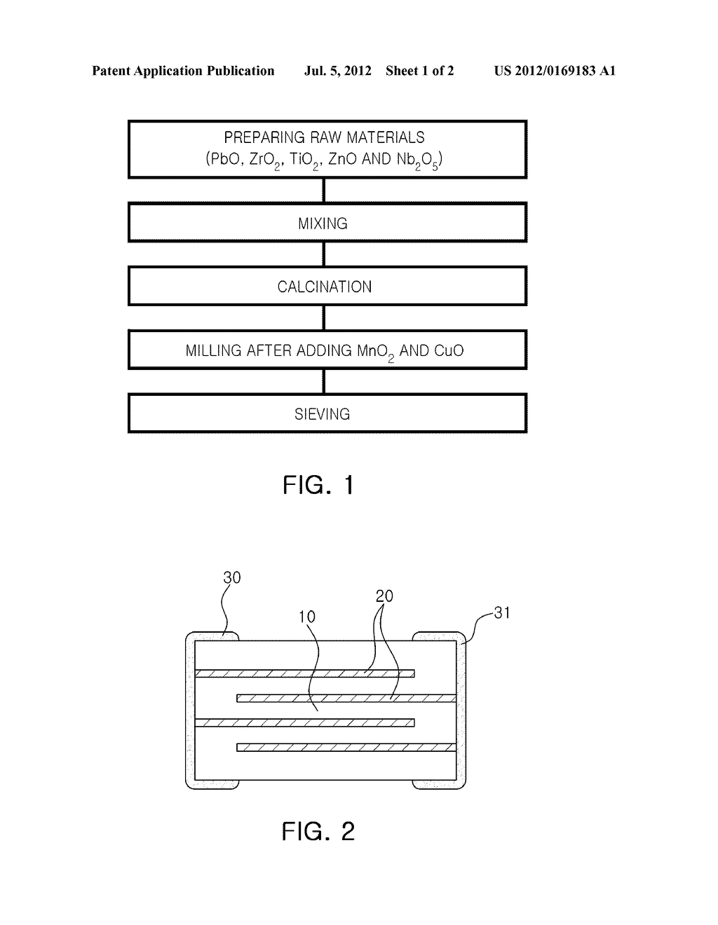 CERAMIC COMPOSITION FOR PIEZOELECTRIC ACTUATOR AND METHOD OF MANUFACTURING     THE SAME, AND PIEZOELECTRIC ACTUATOR MANUFACTURED BY USING THE SAME - diagram, schematic, and image 02