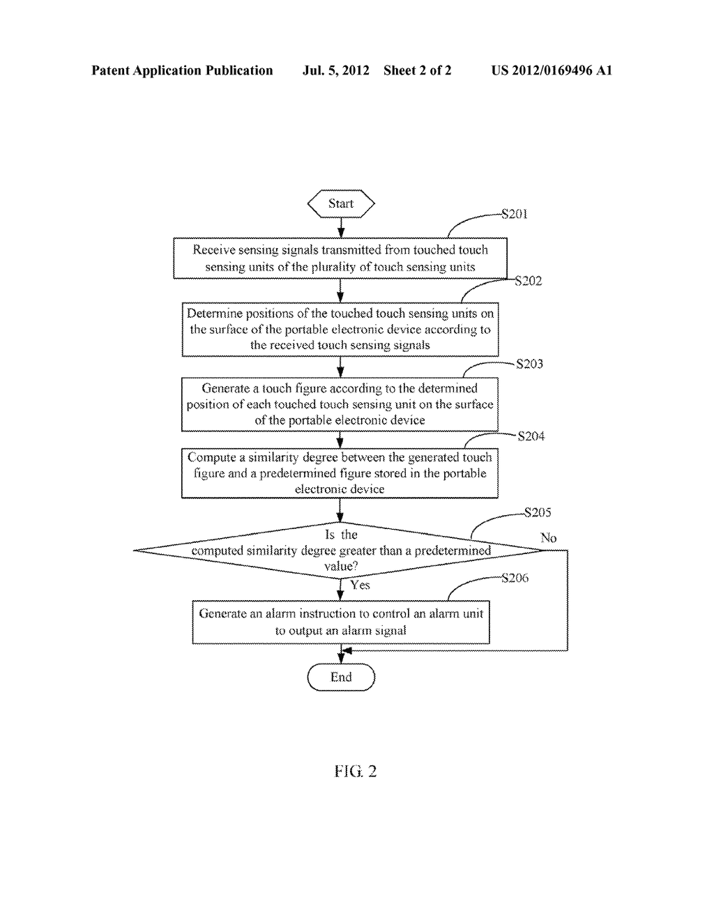 PORTABLE ELECTRONIC DEVICE WITH ANTI-THEFT FUNCTION AND ANTI-THEFT METHOD - diagram, schematic, and image 03
