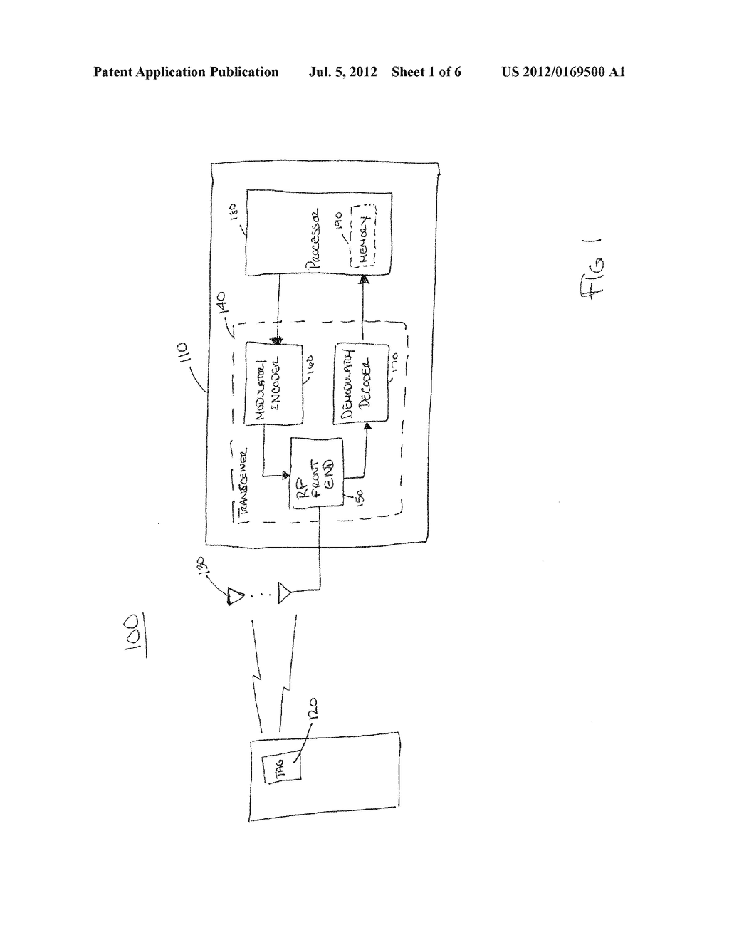 RADIO FREQUENCY IDENTIFICATION SYSTEM AND METHOD USED TO PERFORM     ELECTRONIC ARTICLE SURVEILLANCE - diagram, schematic, and image 02