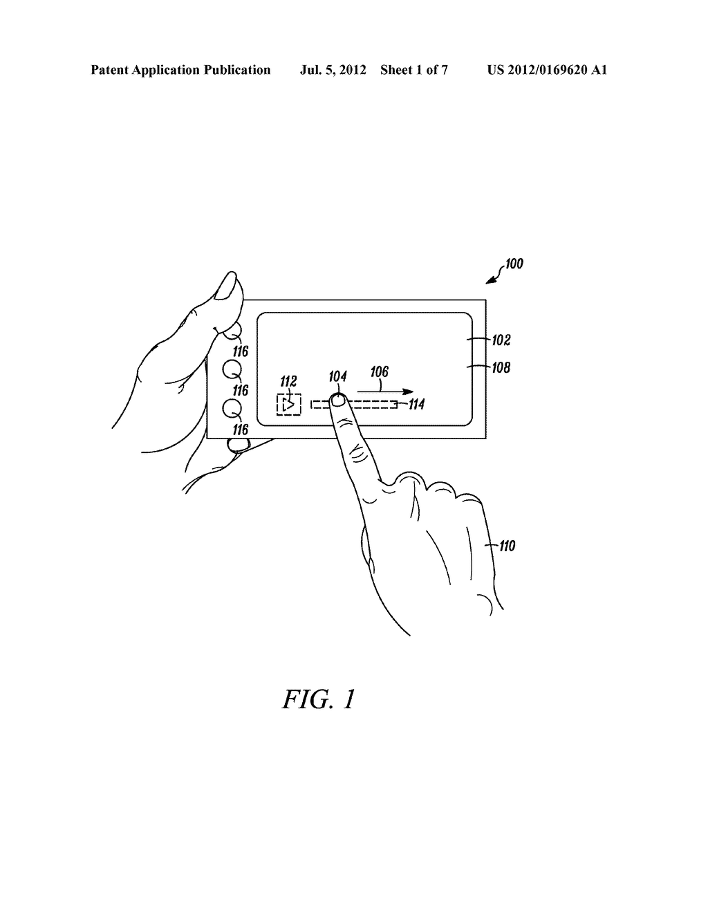 User Interface and Method for Locating an Interactive Element Associated     with a Touch Sensitive Interface - diagram, schematic, and image 02