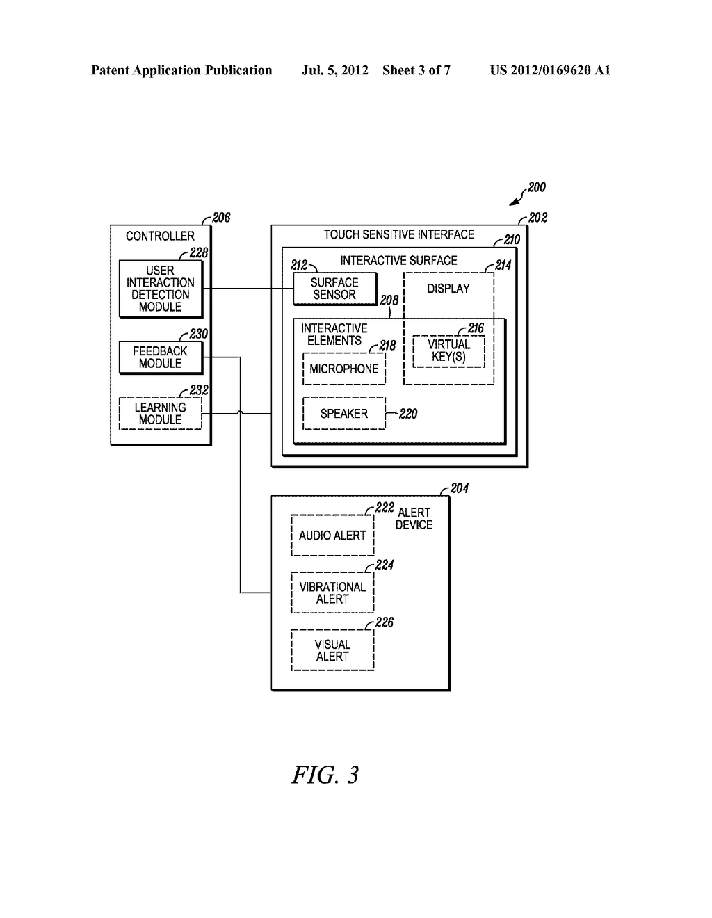 User Interface and Method for Locating an Interactive Element Associated     with a Touch Sensitive Interface - diagram, schematic, and image 04