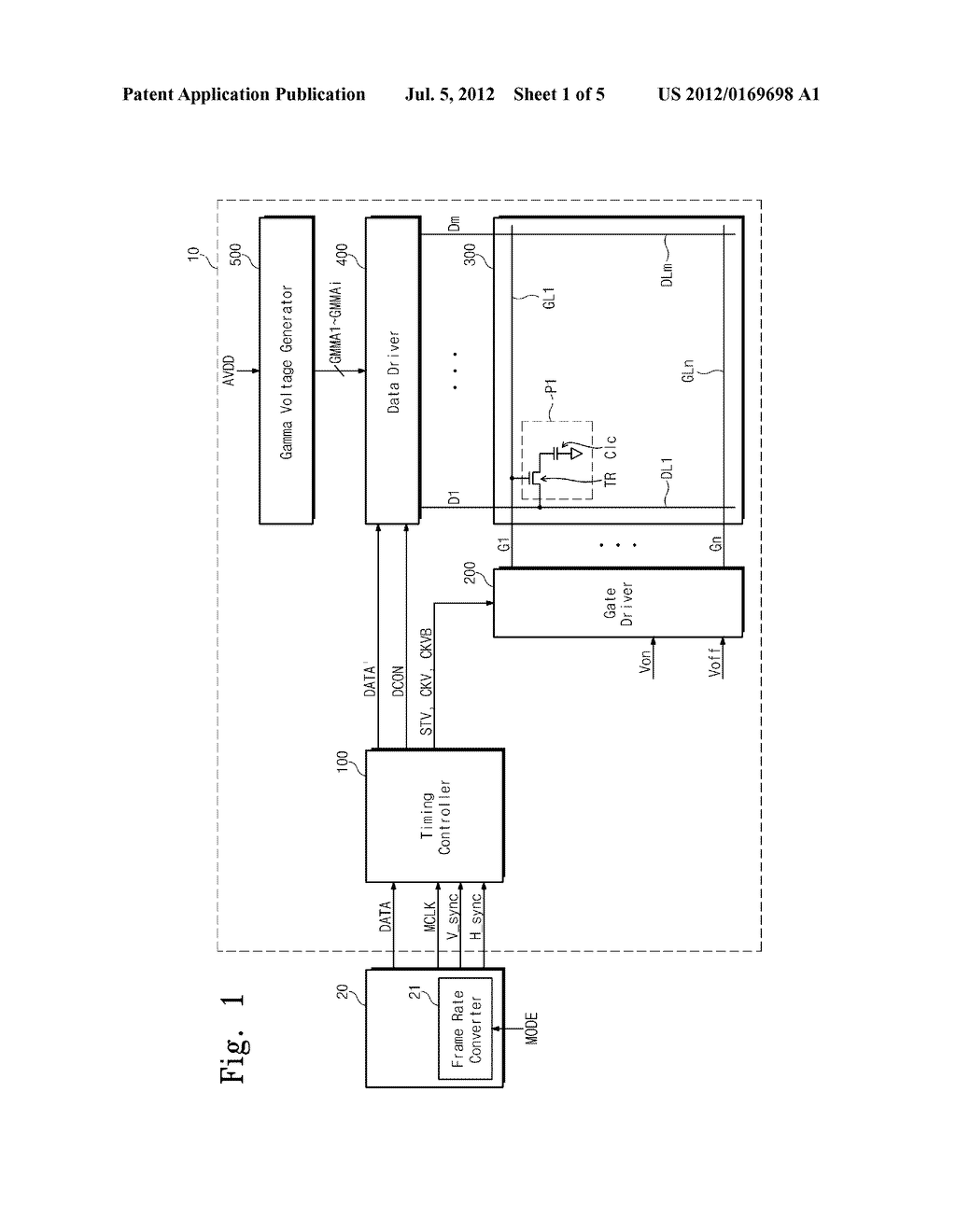 DISPLAY APPARATUS AND METHOD OF DRIVING THE SAME - diagram, schematic, and image 02