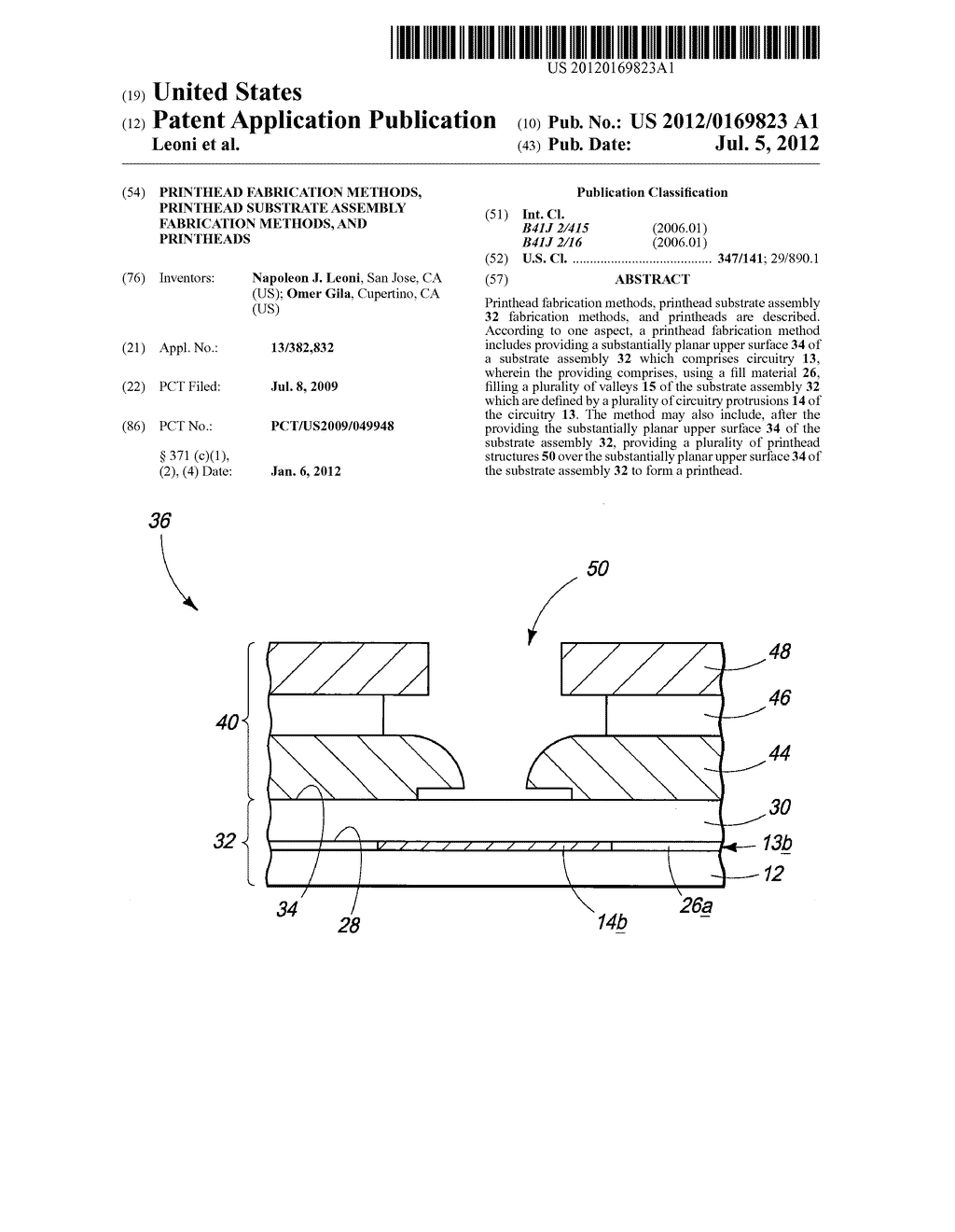 Printhead Fabrication Methods, Printhead Substrate Assembly Fabrication     Methods, And Printheads - diagram, schematic, and image 01