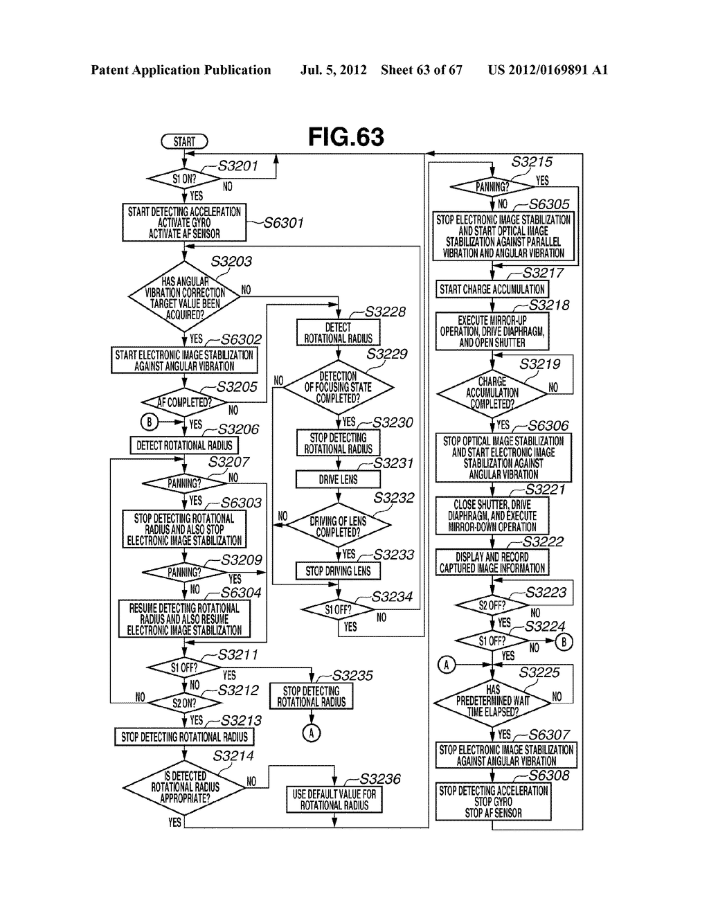 IMAGE STABILIZATION CONTROL APPARATUS AND IMAGING APPARATUS - diagram, schematic, and image 64