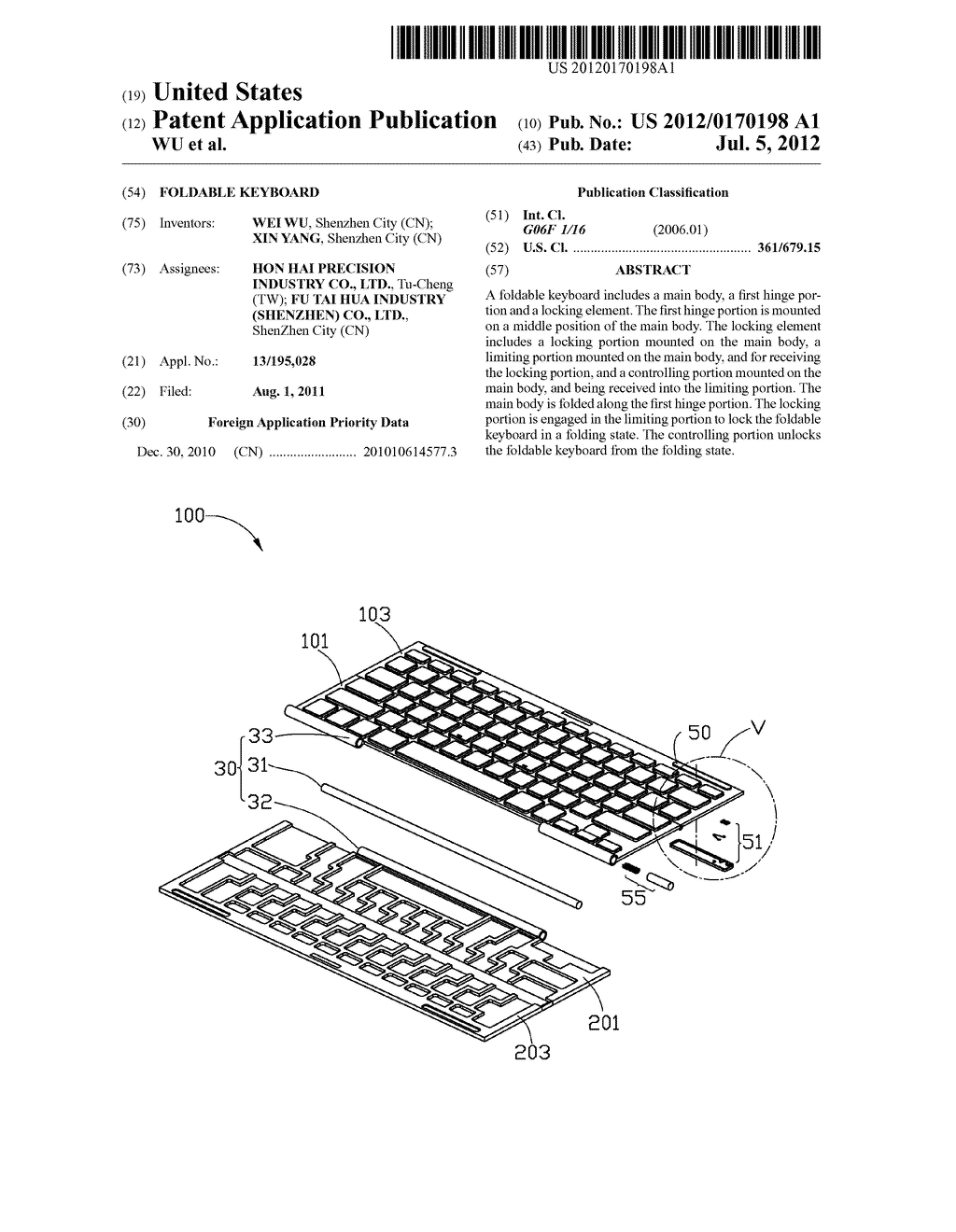 FOLDABLE KEYBOARD - diagram, schematic, and image 01