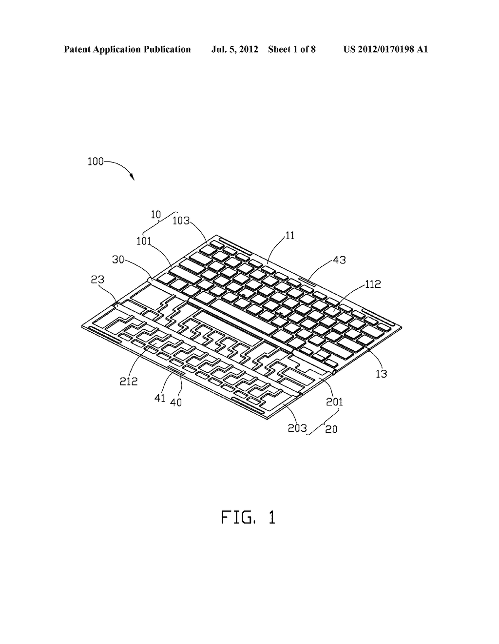FOLDABLE KEYBOARD - diagram, schematic, and image 02