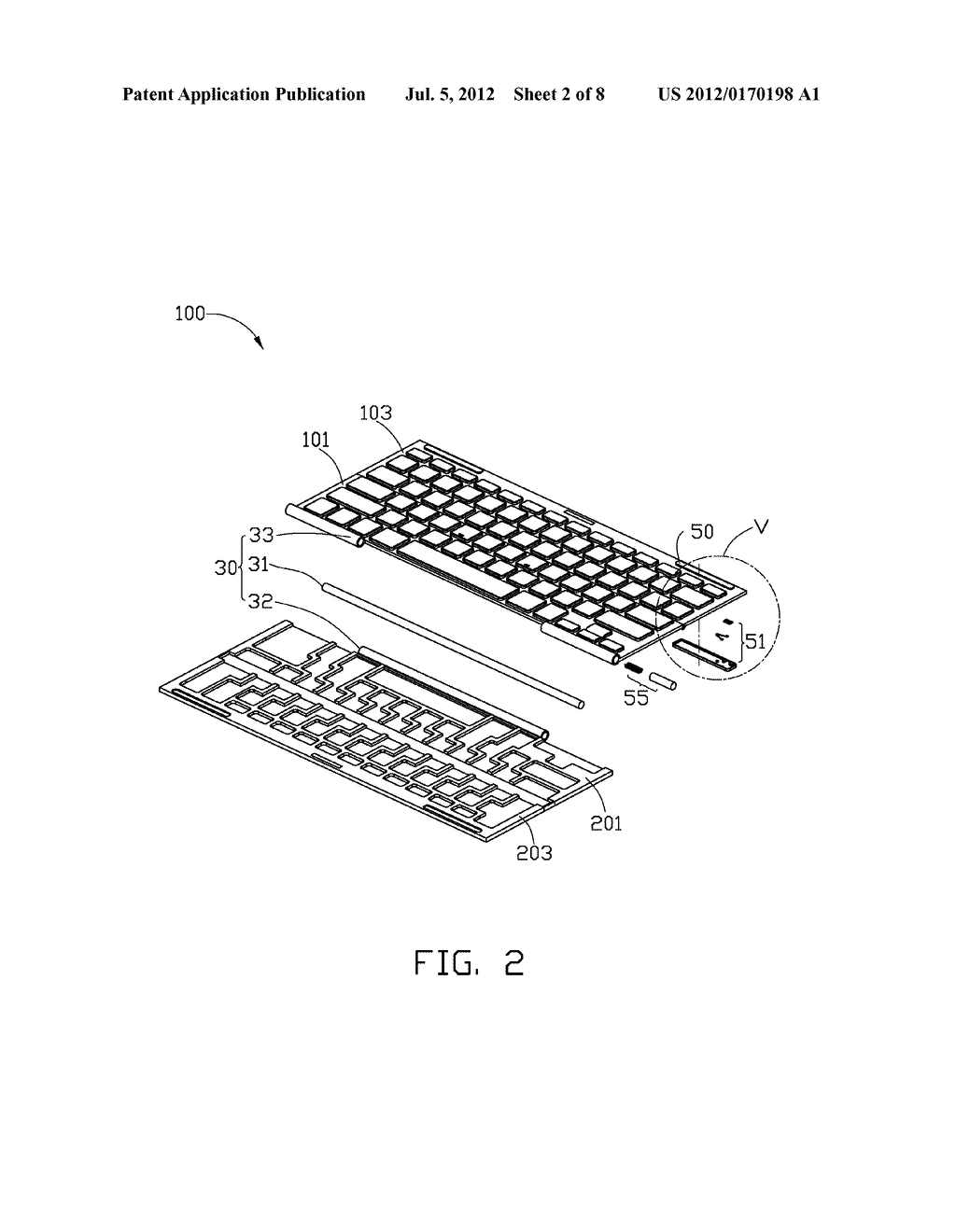 FOLDABLE KEYBOARD - diagram, schematic, and image 03