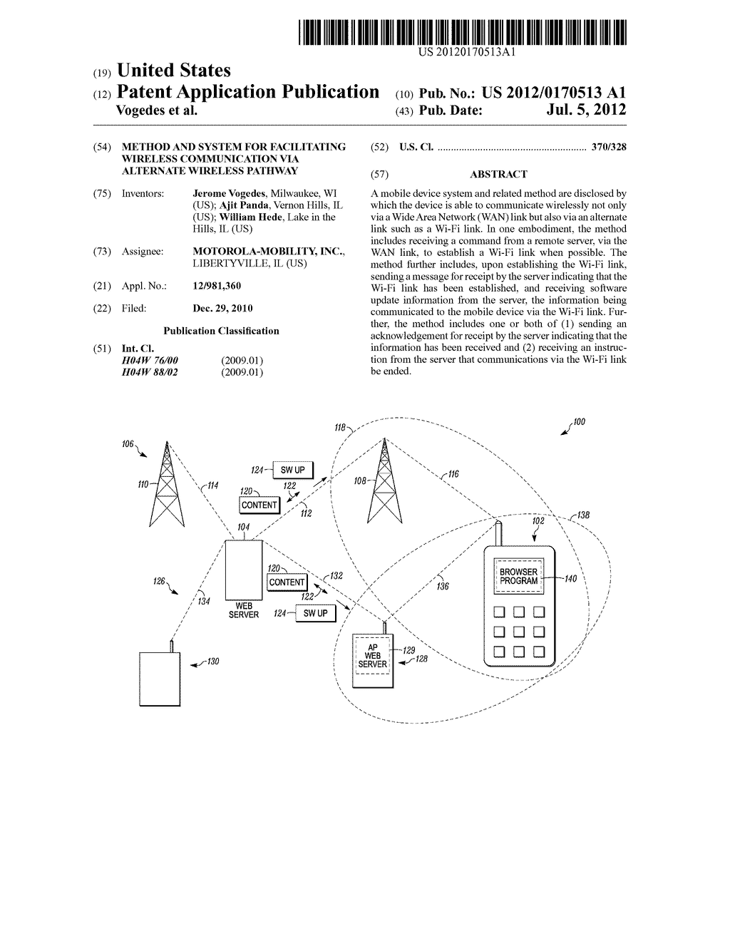 Method and System for Facilitating Wireless Communication Via Alternate     Wireless Pathway - diagram, schematic, and image 01