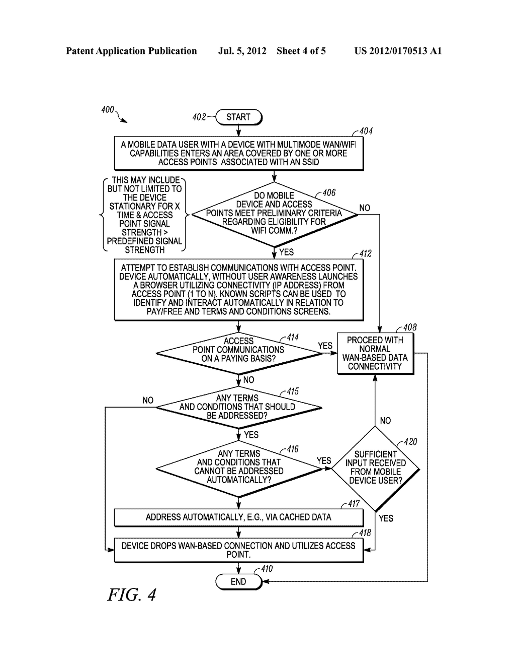 Method and System for Facilitating Wireless Communication Via Alternate     Wireless Pathway - diagram, schematic, and image 05