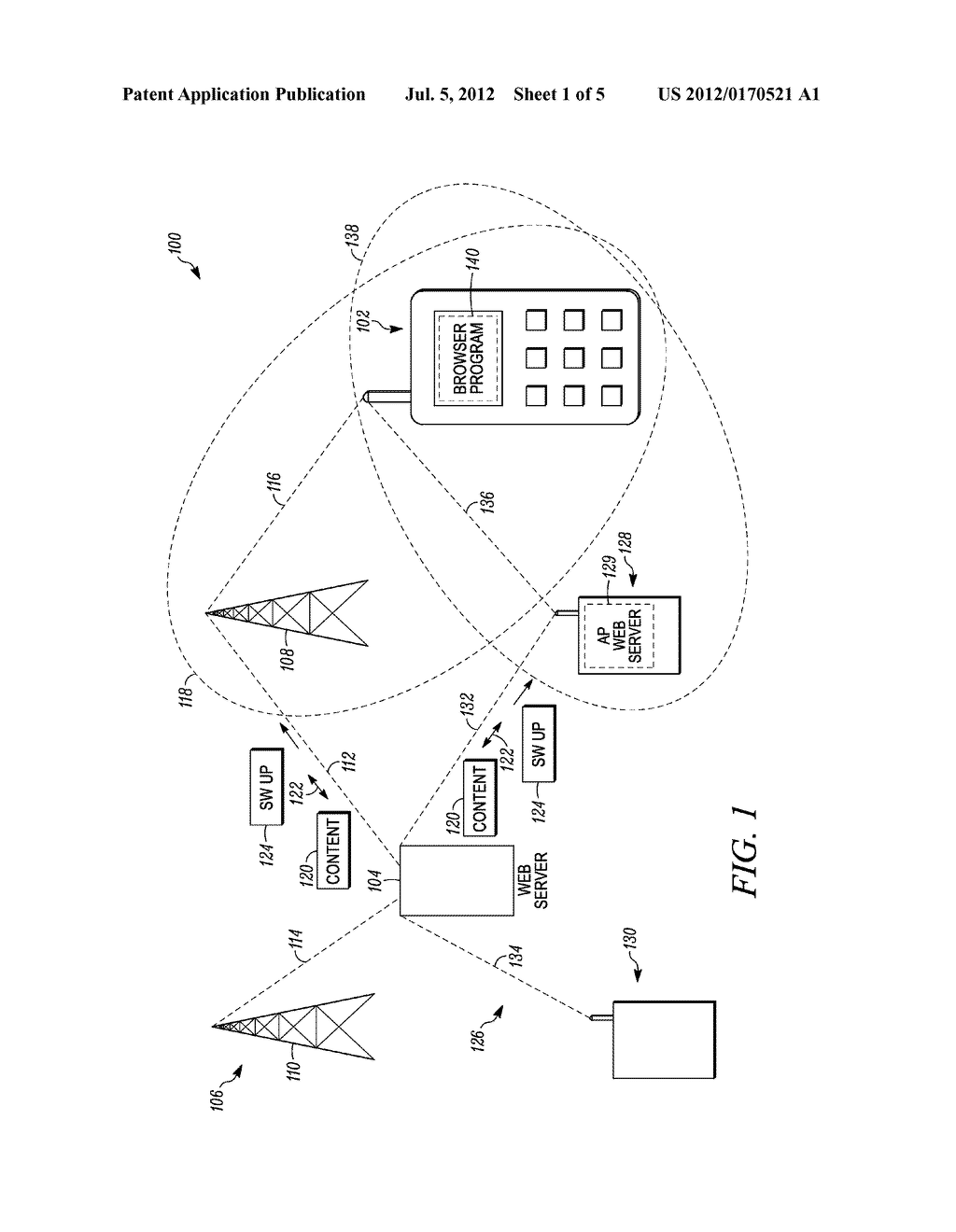 Method and System for Facilitating Wireless Communication Via Alternate     Wireless Pathway - diagram, schematic, and image 02