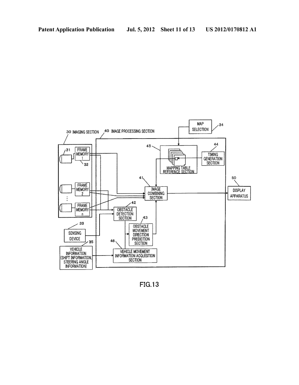DRIVING SUPPORT DISPLAY DEVICE - diagram, schematic, and image 12