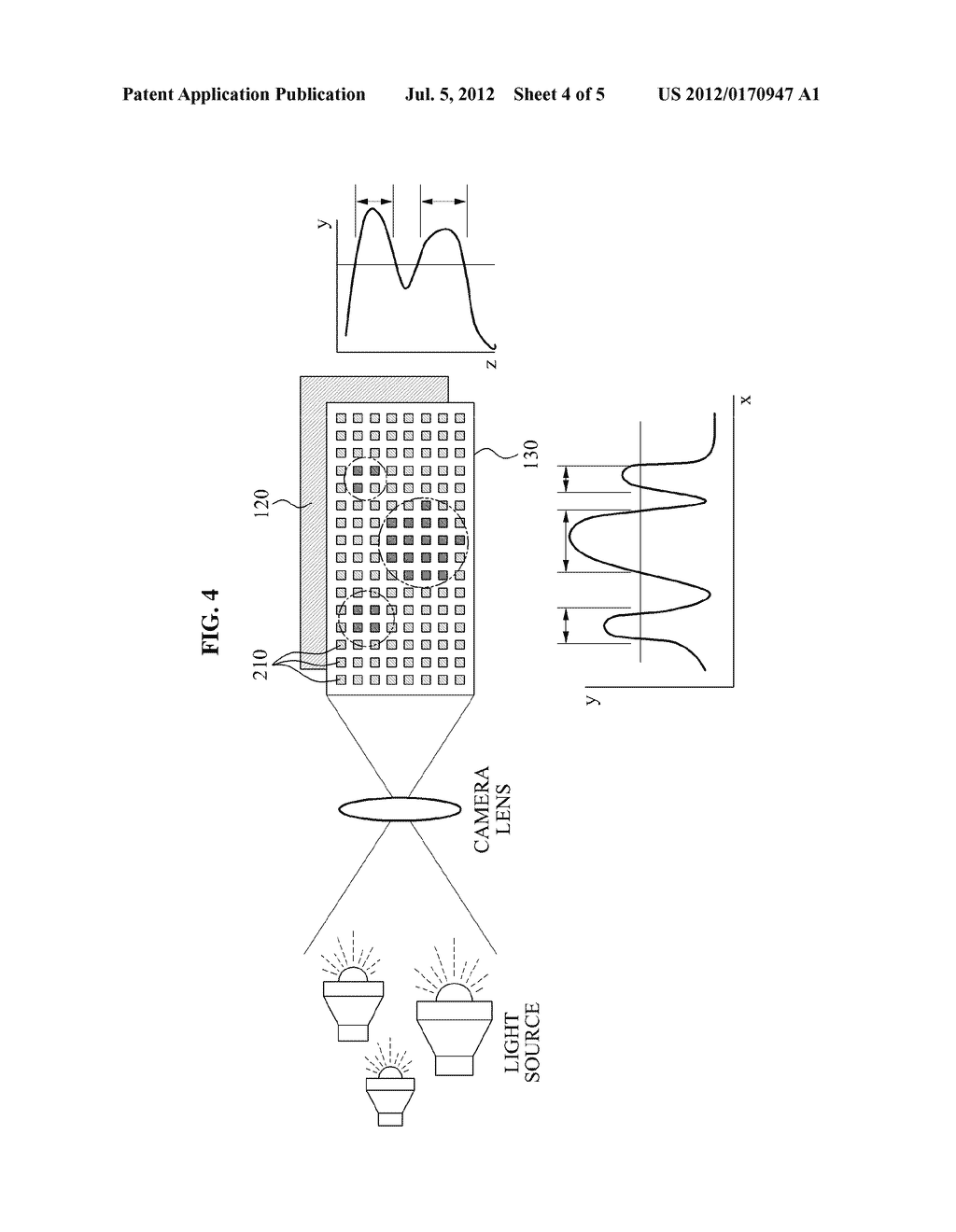 APPARATUS AND METHOD FOR RECEIVING LIGHT USING MULTIPLE LIGHT RECEIVING     SENSORS - diagram, schematic, and image 05