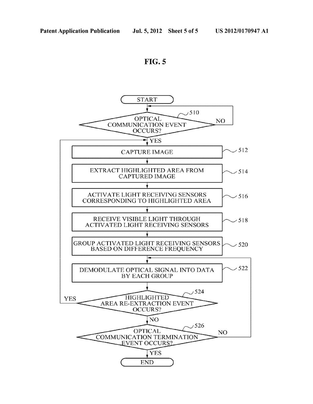 APPARATUS AND METHOD FOR RECEIVING LIGHT USING MULTIPLE LIGHT RECEIVING     SENSORS - diagram, schematic, and image 06
