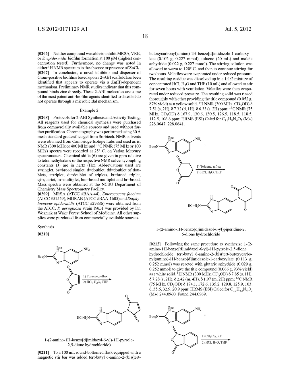 Inhibition and Dispersion of Bacterial Biofilms with Benzimidazole     Derivatives - diagram, schematic, and image 29