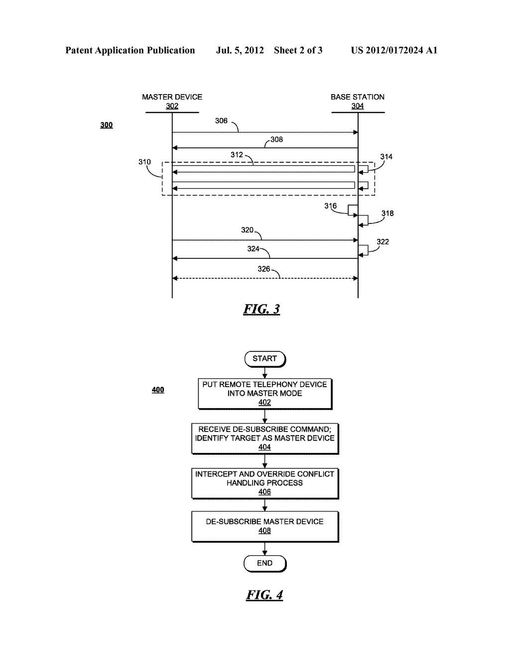 METHOD AND APPARATUS FOR CONTROLLING DE-SUBSCRIPTION OF A MASTER DEVICE AT     A BASE STATION - diagram, schematic, and image 03