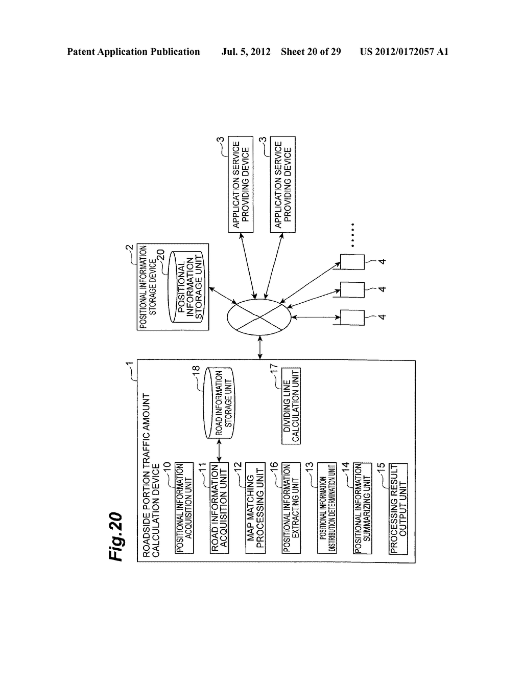 ROADSIDE PORTION TRAFFIC AMOUNT CALCULATION DEVICE AND ROADSIDE PORTION     TRAFFIC AMOUNT CALCULATION METHOD - diagram, schematic, and image 21