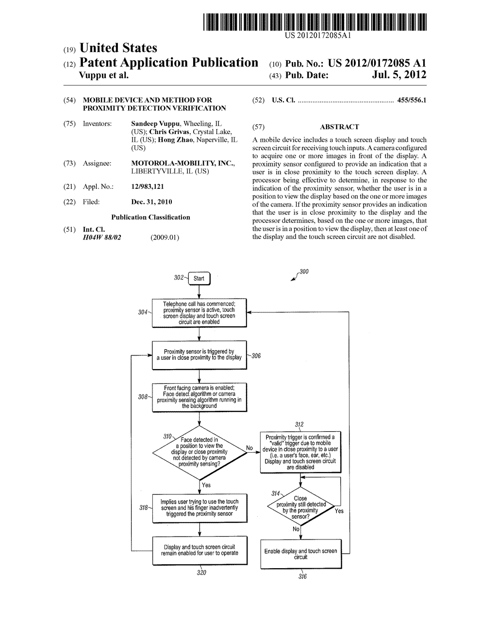 MOBILE DEVICE AND METHOD FOR PROXIMITY DETECTION VERIFICATION - diagram, schematic, and image 01