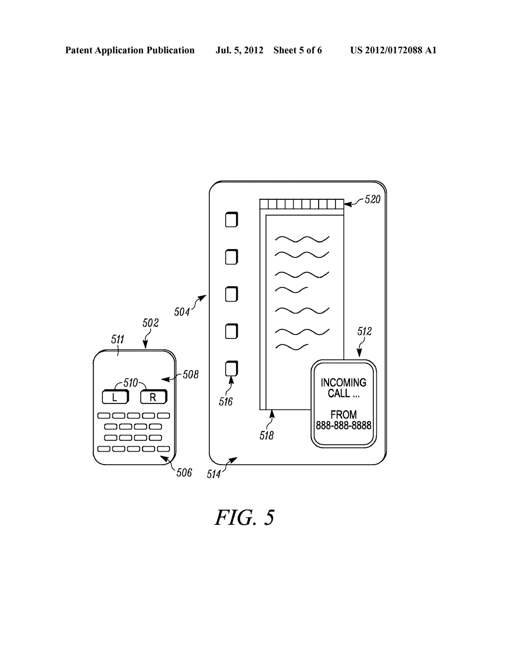 Method and System for Adapting Mobile Device to Accommodate External     Display - diagram, schematic, and image 06